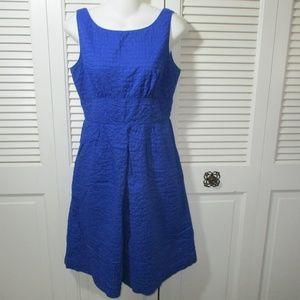 J. Crew Royal Blue Textured A-Line Dress 4